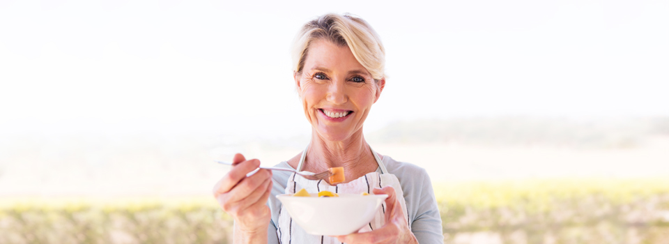 Enjoy improved diet and nutrition with implant-supported dentures