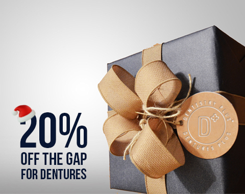 Xmas Special: Save 20% off the Gap at Dentures Plus!